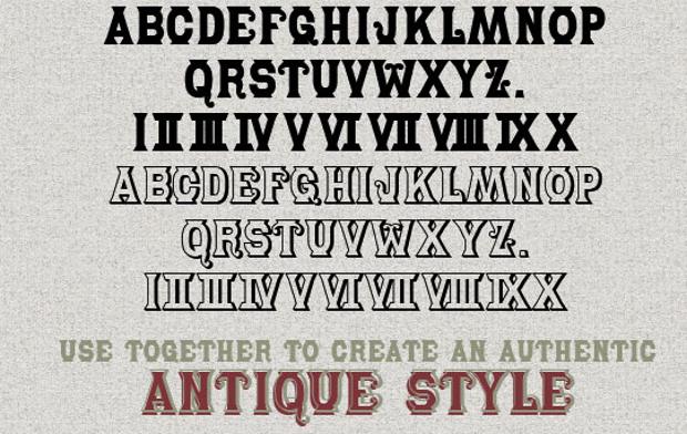 Bold Fancy Font