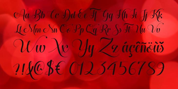 cursive wedding font