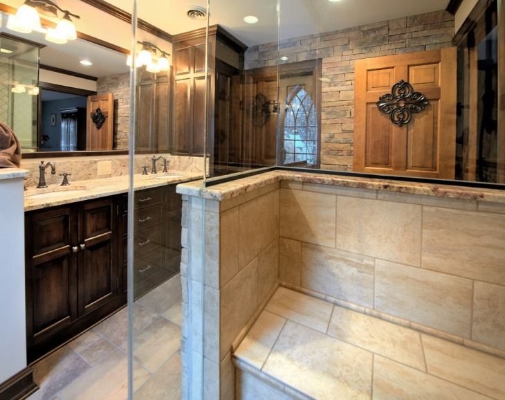 small gothic style bathroom idea