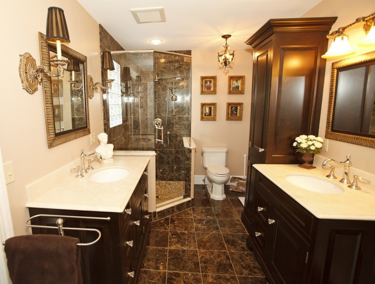 classic bathroom with double vanity1