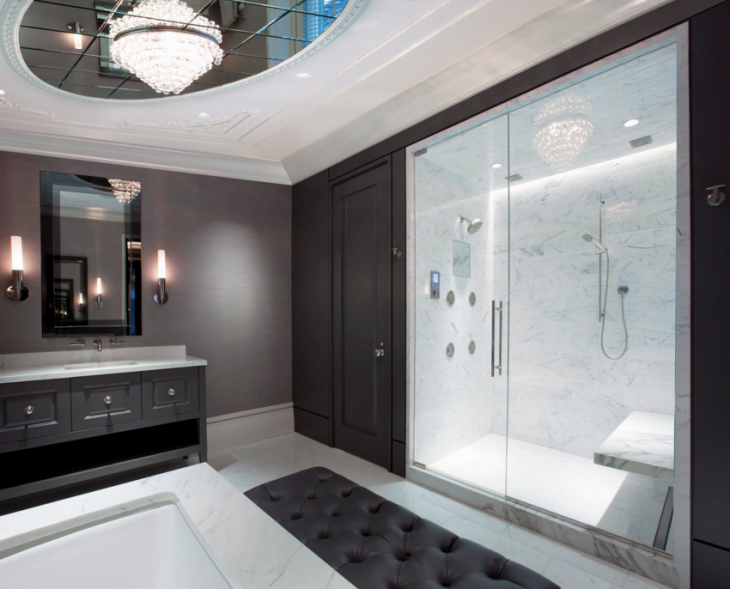 contemporary master bathroom lighting design