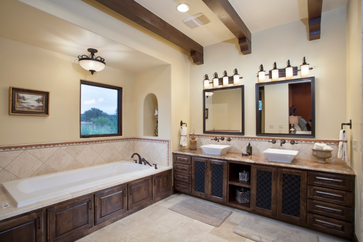 southwestern bathroom lighting design