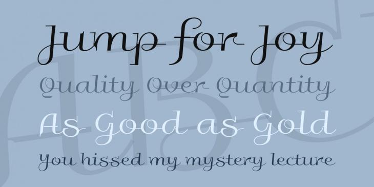 fancy galberik cursive font