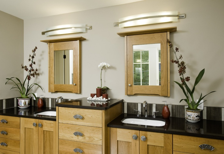 Eclectic Vintage Bathroom Lighting