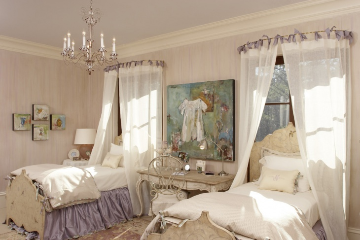 Victorian Look Girls Bedroom