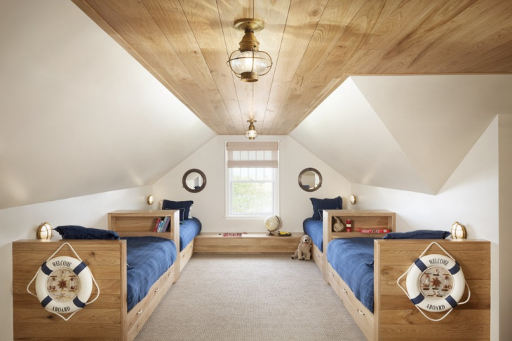 Cozy Kids Bedroom with Wooden Roof