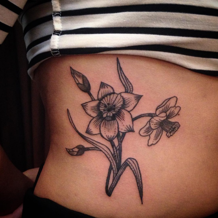 Flower Sketch Tattoo for Women