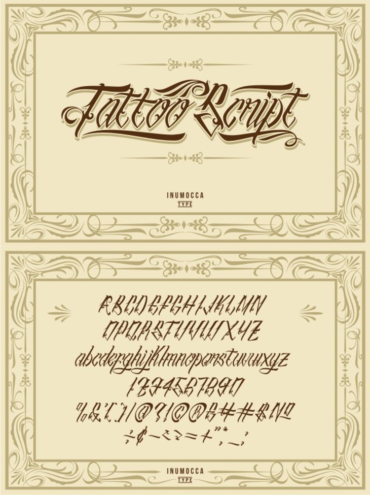 Vintage Tattoo Font