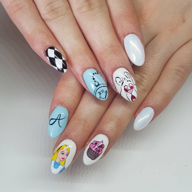 21 hand painted nail art designs ideas design trends premium hand painted comic nail art prinsesfo Choice Image