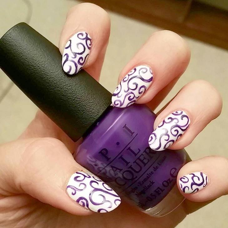 Lovely Purple Nail Art