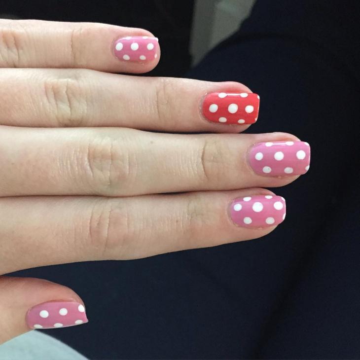 Awesome Polka Dot Nail Design