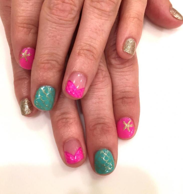 Glitter Nail Art Idea