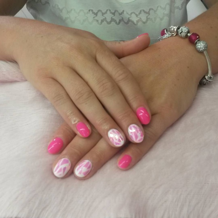 Lovely Pink Nail Art Idea