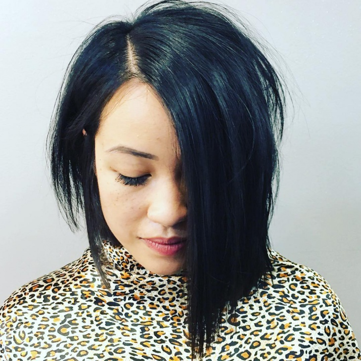 Edgy Line Bob Hairstyle