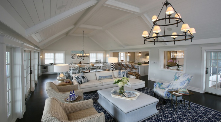 stone harbor beach style living room
