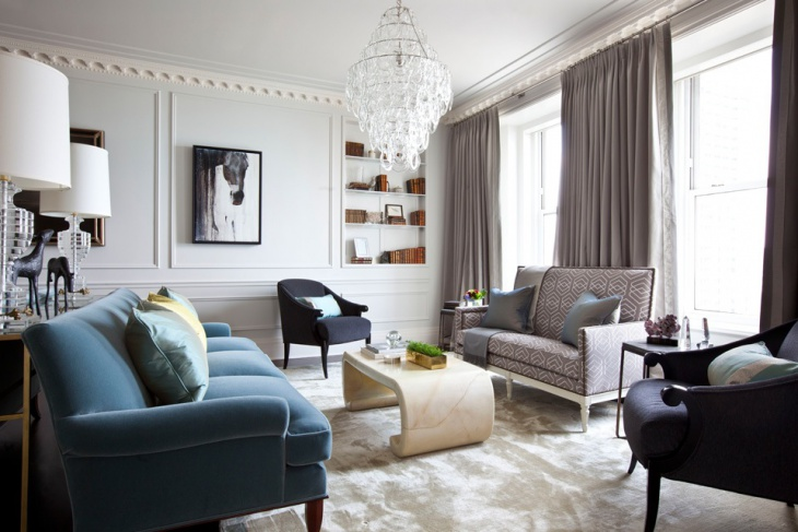 transitional living room with comfy sofa set