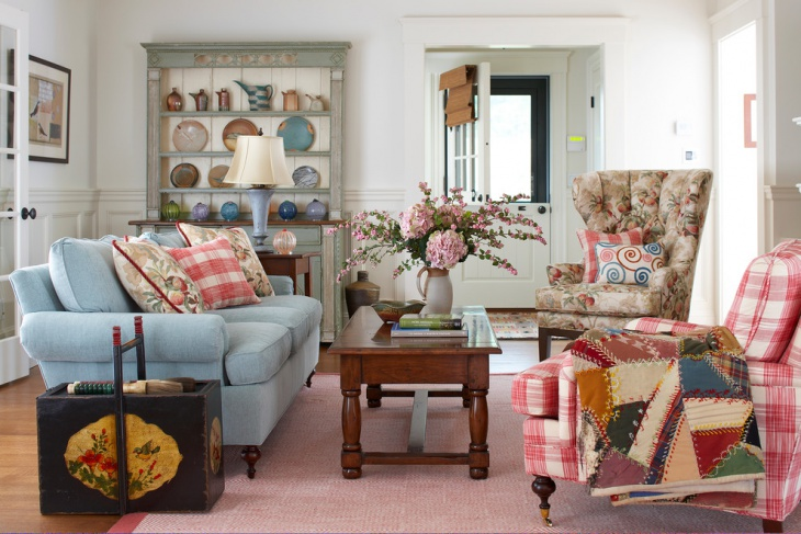 shabby chic style living room design