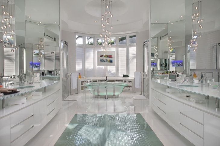 Dual Mirror Luxury Bathroom Design