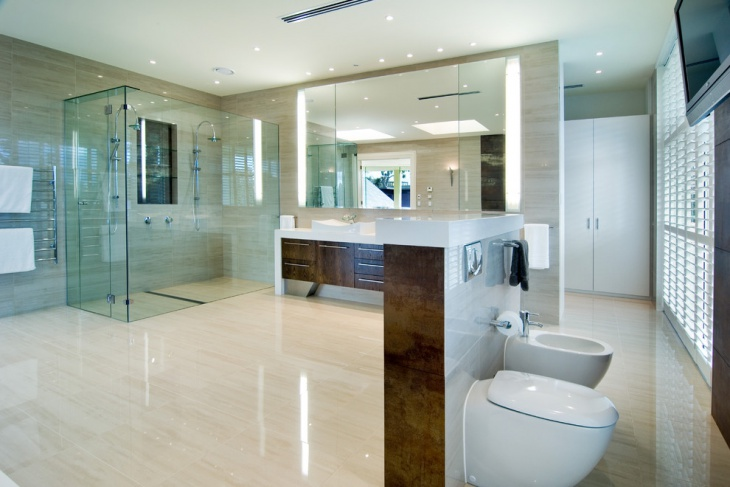 Spacious Transparent Bubbles Bathroom