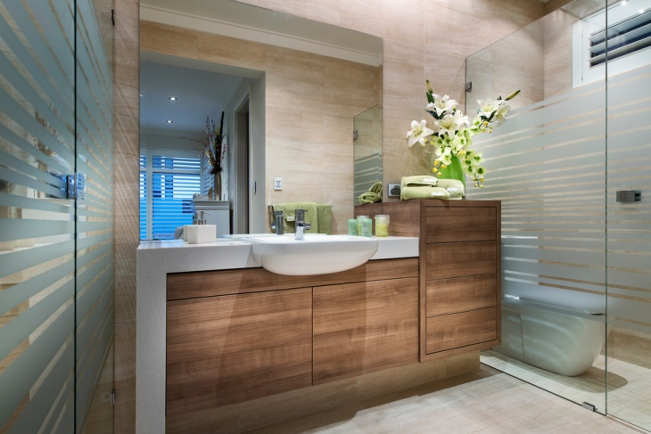 Spring Wooden Transparent Bathroom