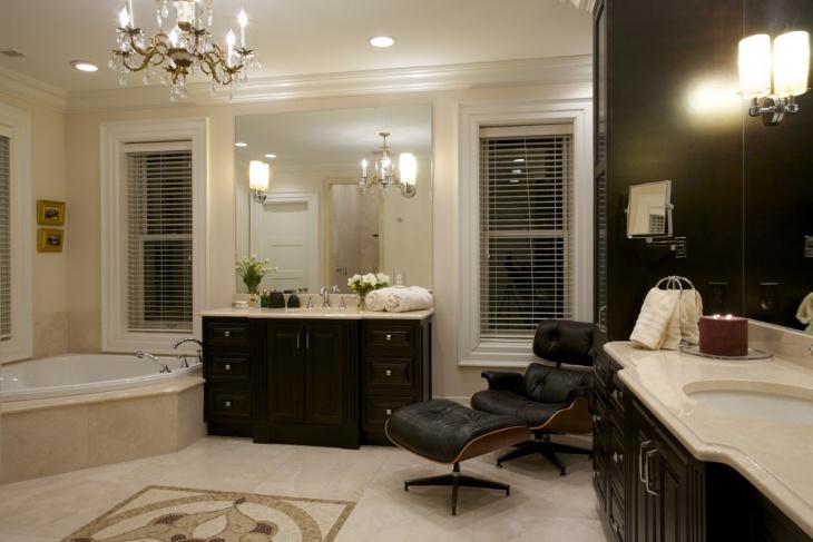 mosaic marbles dark bathroom design ideas