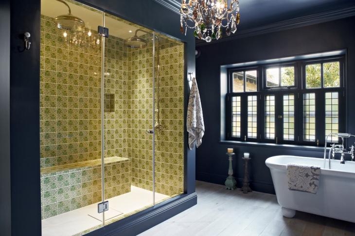 Blue Eclectic Bathroom Idea