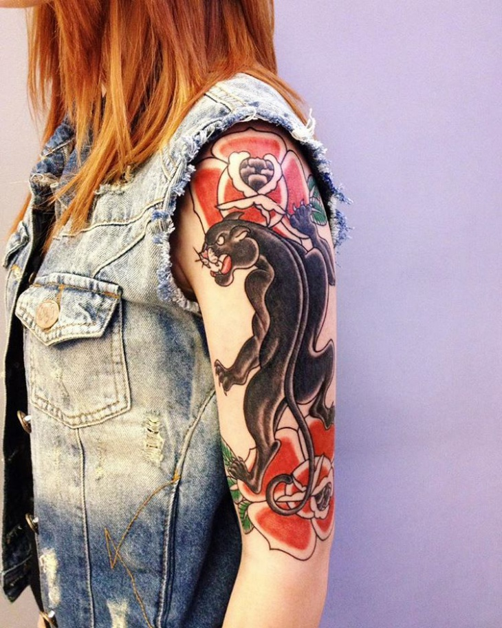 Cool Sleeve Tattoo for Girl