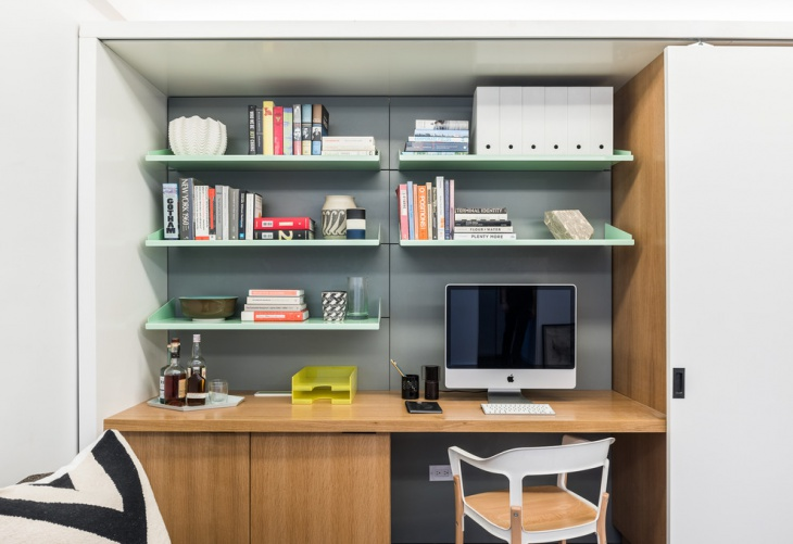 custom steel shelves with storage office