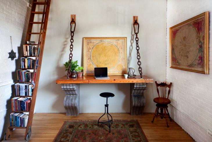 unique home office shelves design