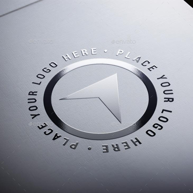 4 Realistic Paper Logo Mockups