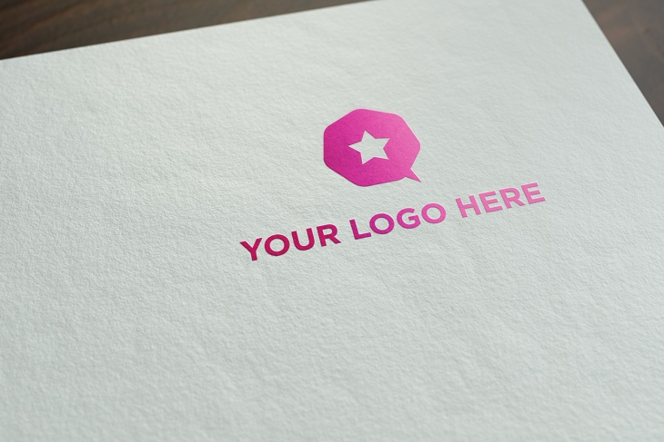 free realistic logo mock up