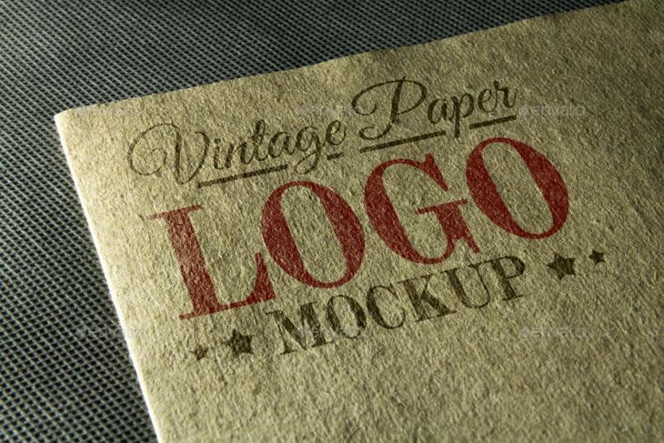 Vintage Paper Logo Mockup