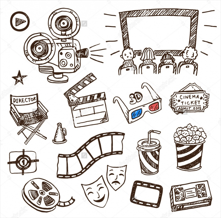 Hand Drawn Cinema Icon