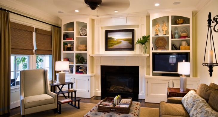 21+ Living Room Storage Designs, Decorating Ideas | Design ...