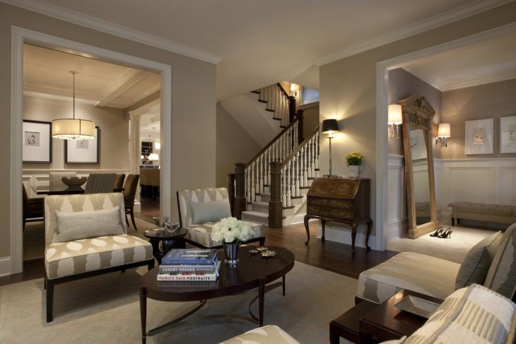 Brown Interior Living Room Idea
