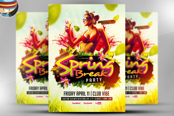 Spring Party Flyer Design