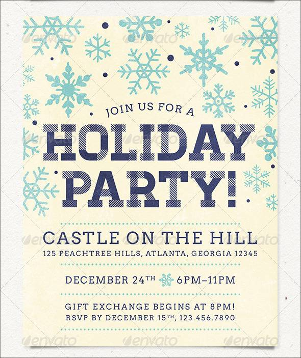 Neutral Colors Holiday Party Flyer