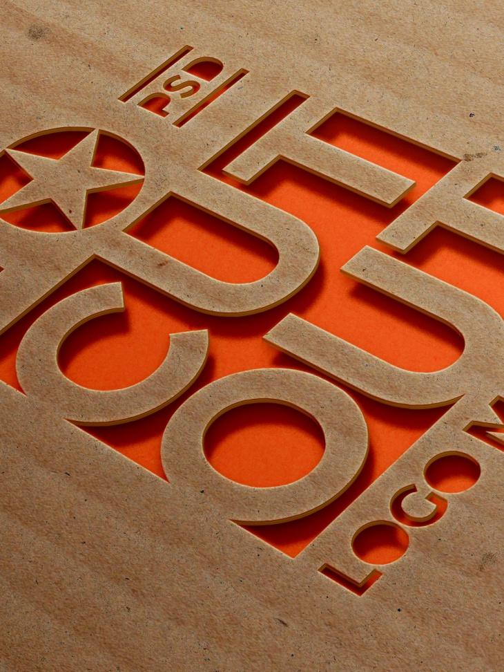 13  creative cardboard logo mockups