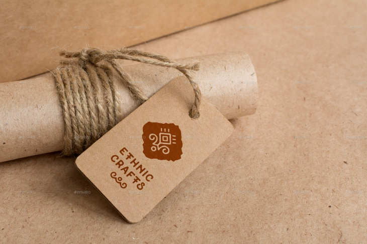 Craft and Cardboard Logo Mockup