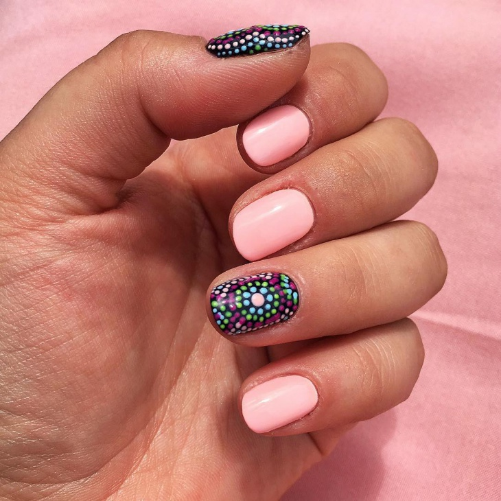 polka dot summer nail design