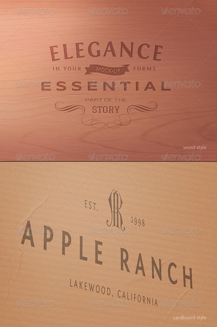 elegance logo mock up