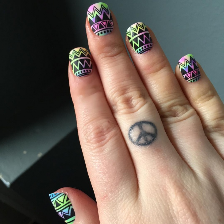 funky nail art for square nails