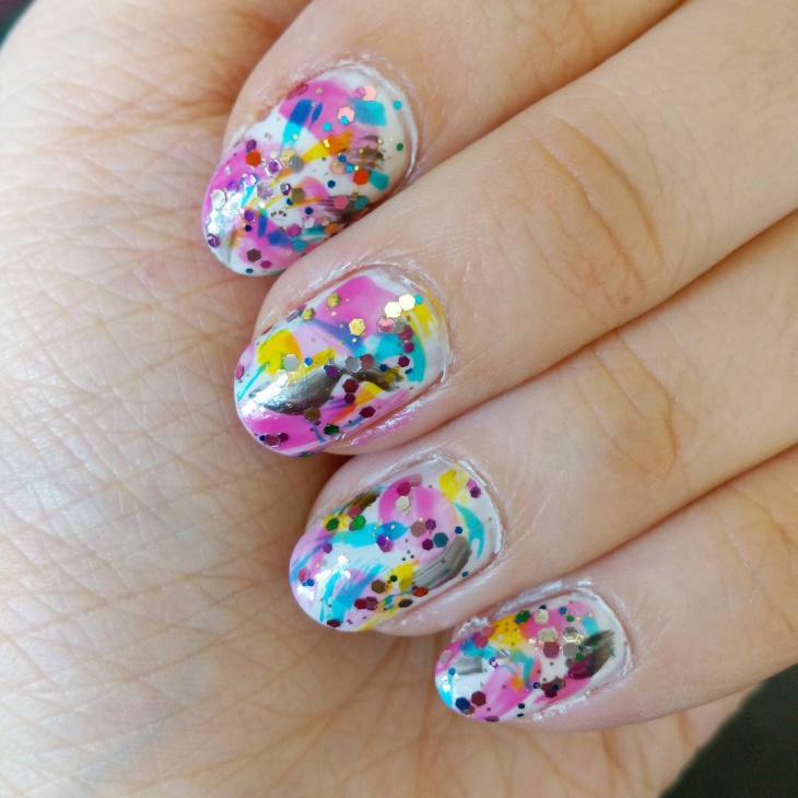 sparkle nail art design