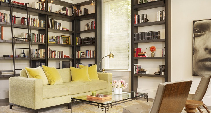 21+ Living Room Bookshelf Designs, Decorating Ideas | Design Trends ...