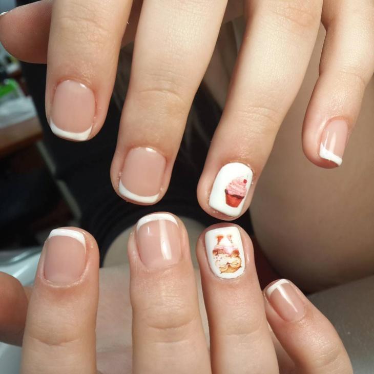 Shellac Tip Nail Design
