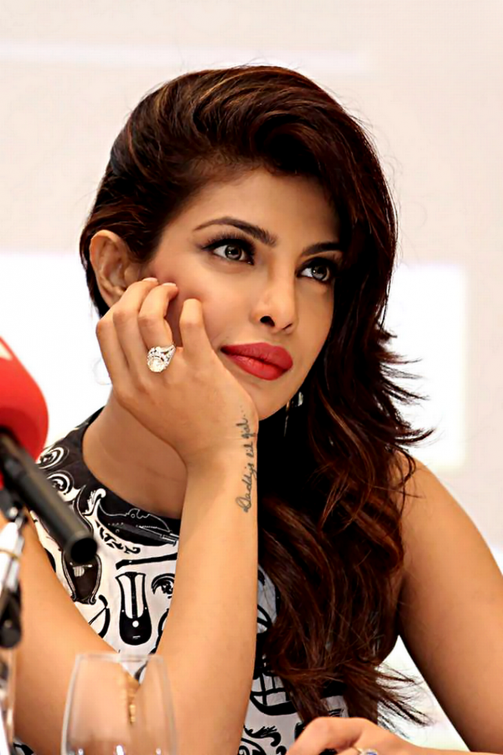 priyanka chopra wrist tattoo