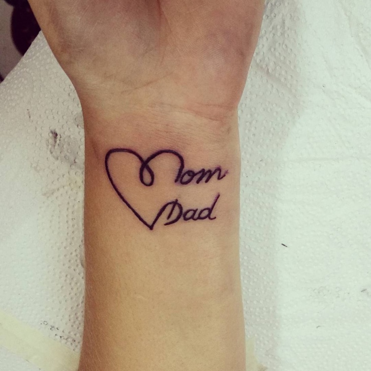 Mom Dad Heartbeat Tattoo: 21+ Dad Tattoo Designs, Ideas