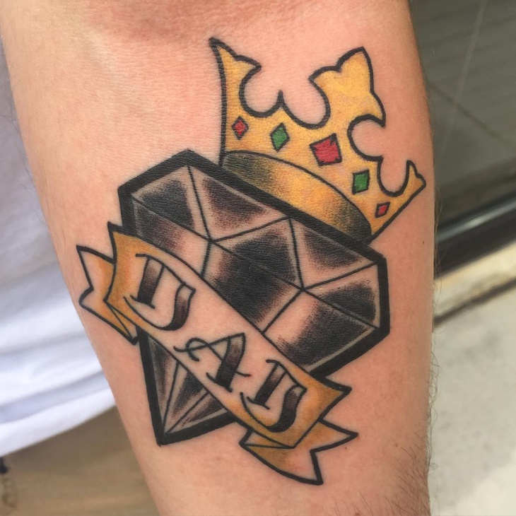 dad crown tattoo