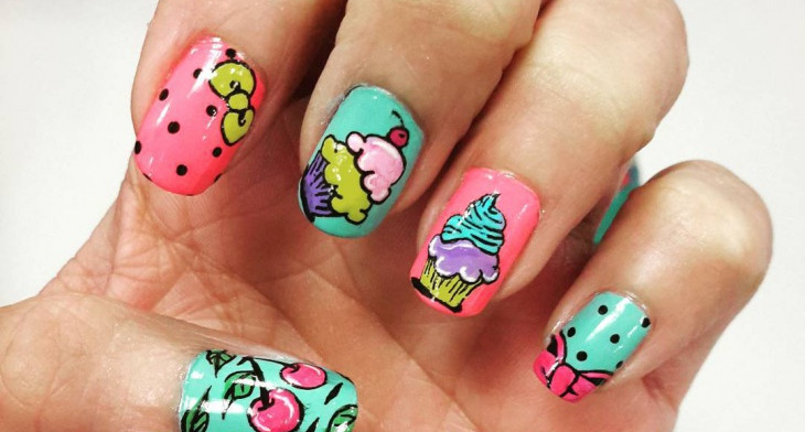 18 Cupcake Nail Art Designs Ideas Design Trends Premium Psd