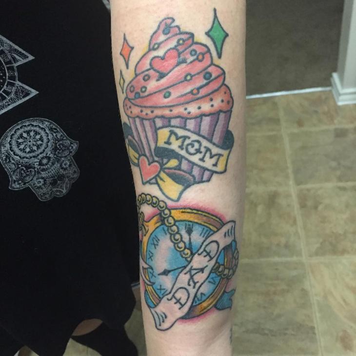 Ice Cream Tattoo Design